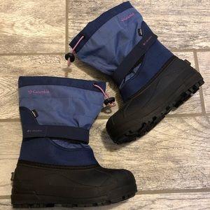 Girls Columbia waterproof snow winter boots